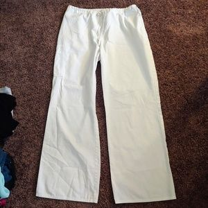 SB Scrubs gently worn white scrub bottoms